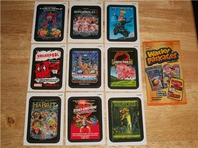 2013 WACKY PACKAGES ALL NEW SERIES 11 (ANS11) COMPLETE *COMING DISTRACTIONS* SET
