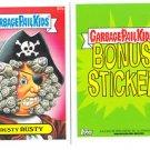 """2015 GARBAGE PAIL KIDS SERIES 1  """"CRUSTY RUSTY"""" B7b BONUS STICKER"""
