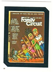 """TOPPS WACKY PACKAGES 1982 SERIES ALBUM STICKER """"FAMILY CIRCUIT"""" #89"""
