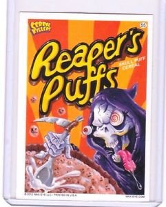 """2012 CEREAL KILLERS 1ST SERIES """"REAPER'S PUFFS"""" #55 STICKER-ONLY 99 CENTS"""