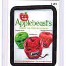 "2013 WACKY PACKAGES ALL NEW SERIES 11 {ANS11} RUDE FOOD INSERT ""APPLEBEAST'S"" #9"