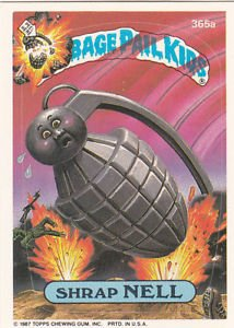 "1987 GARBAGE PAIL KIDS ORIGINAL 9TH SERIES ""SHRAP NELL"" #365a  NM"