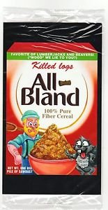 """2017 Wacky Packages 50th Anniversary OVERSIZE ART CARD """"ALL BLAND CEREAL"""" #4"""