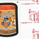 "2016 WACKY PACKAGES BASEBALL SERIES 1 RED LUDLOW ""MARLINS FISHFOOD"" #28"