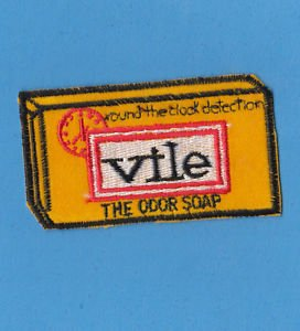"1970'S WACKY KOOKY UNUSED VINTAGE ""VILE SOAP"" PATCH VERY HARD TO FIND!!"