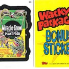 2006 WACKY PACKAGES ALL NEW SERIES 3 (ANS3) **MIRACLE-BONE** BONUS STICKER B5
