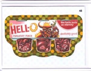 """2010 WACKY PACKAGES ALL NEW SERIES 9 {ANS9} GOLD BORDER """"HELL-O"""" #48 RARE!"""