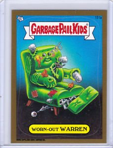 "GARBAGE PAIL KIDS BRAND NEW SERIES 3 (BNS3) ""GOLD CARD"" #151a ""WORN-OUT WARREN"""