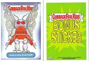 """2014 GARBAGE PAIL KIDS 1ST SERIES BONUS STICKER  """"SWEATER EATON"""" B9b NM"""