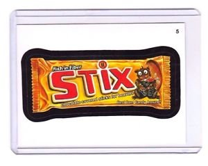 "2015 WACKY PACKAGES SERIES 1 ""STIX"" #5 STICKER! NM"