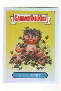 """2013 Garbage Pail Kids 1st Series """"BUGGED BERT"""" Chrome Refractor 11b"""