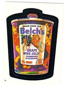 "Topps WACKY PACKAGES 1982 SERIES ALBUM STICKER ""BELCH'S JELLY"" #14"
