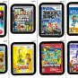 """2012 WACKY PACKAGES ALL NEW SERIES 9 {ANS9} """"LAME GAMES"""" COMPLETE SET + WRAPPER."""