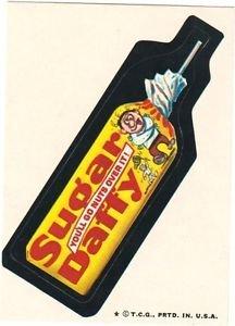 "1974 WACKY PACKAGES WONDER BREAD 2nd SERIES ""SUGAR DAFFY"" STICKER NM"