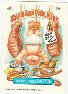"1986 GARBAGE PAIL KIDS ORIGINAL 5th SERIES ""HAMBURGER PATTIE"" #192b  NM"