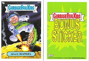 "2013 GARBAGE PAIL KIDS BRAND NEW SERIES3 (BNS3) BONUS STICKER ""SPACE MANUEL""B20a"
