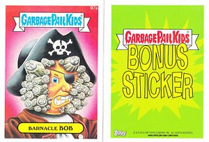"2015 GARBAGE PAIL KIDS SERIES 1  ""BARNACLE BOB"" B7a BONUS STICKER"