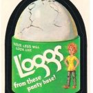 """1974 WACKY PACKAGES WONDER BREAD 2nd SERIES """"L'OGGS"""" STICKER NM"""