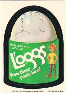 "1974 WACKY PACKAGES WONDER BREAD 2nd SERIES ""L'OGGS"" STICKER NM"