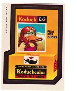 "1974 WACKY PACKAGES WONDER BREAD 2nd SERIES ""KODUCK"" STICKER"
