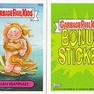 2013 GARBAGE PAIL KIDS BRAND NEW SERIES3 (BNS3) BONUS STICKER-HAIRY HANNAH- B22a