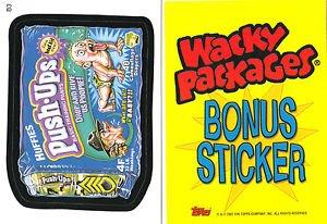 2007 WACKY PACKAGES ALL NEW SERIES 5 (ANS5) **PUSH-UPS** BONUS STICKER  B3