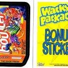 2013 WACKY PACKAGES ALL NEW SERIES 11 (ANS11) **BOUNCER** BONUS STICKER  B7