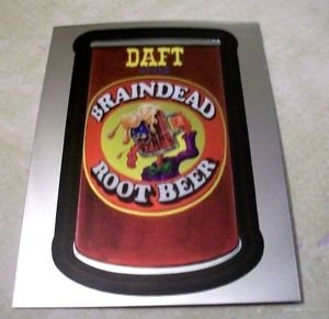 "WACKY PACKAGES CHROME SERIES 1 ""DAFT ROOT BEER"" #9 CUTTING ROOM FLOOR INSERT"