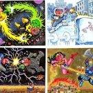 2014 Garbage Pail Kids GPK Series 2 BATTLE BATTLES Complete insert 4-card set NM