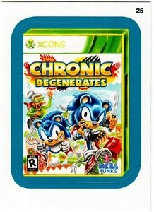 """2013 WACKY PACKAGES ALL NEW SERIES10 {ANS10} BLUE BORDER""""CHRONIC DEGENERATES""""#25"""