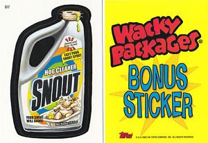 2005 WACKY PACKAGES ALL NEW SERIES 2 (ANS2) **SNOUT** BONUS STICKER  B7