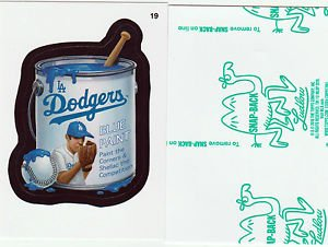 2016 WACKY PACKAGES BASEBALL SERIES 1 GREEN LUDLOW -LA DODGERS BLUE PAINT- #19