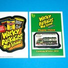 WACKY PACKAGES OLD SCHOOL 4TH SERIES BRAND NEW SERIES INSERT & OS5 PROMO BOTH!