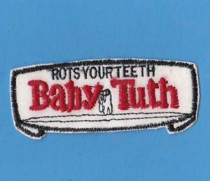 """1970'S WACKY KOOKY UNUSED VINTAGE """"BABY TUTH"""" PATCH VERY HARD TO FIND!!"""