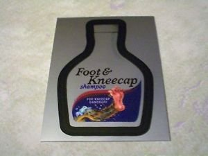 "WACKY PACKAGES CHROME SERIES 1 ""FOOT & KNEECAP"" #2 CUTTING ROOM FLOOR INSERT"