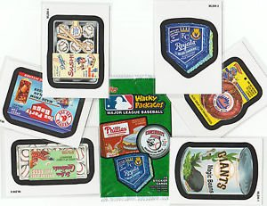 2016 WACKY PACKAGES BB SERIES 1 COMPLETE (6) CARD PROMO INSERT SET + WRAPPER.