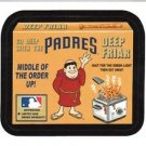 "2016 WACKY PACKAGES BASEBALL SERIES 1 ""PADRES DEEP FRIAR"" #35 STICKER CARD"
