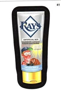 "2016 WACKY PACKAGES BASEBALL SERIES 1 ""RAYS TANNING LOTION"" #41 STICKER CARD"
