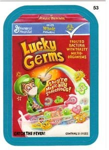 """2013 WACKY PACKAGES ALL NEW SERIES 10 {ANS10} BLUE BORDER """"LUCKY GERMS"""" #53"""