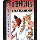 """2016 WACKY PACKAGES BASEBALL SERIES 1 """"D-BACKS BACK SCRATCHER"""" #18 STICKER CARD"""