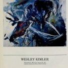 1986 Wesley Kimler Kilimanjaro III 1986 Art Exhibition Ad Advert