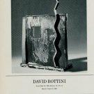 Sculptor David Bottini 1986 Art Exhibition Ad