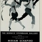 Miriam Schapiro 1986 Art Exhibition Ad I'm Dancin' As Fast As I Can