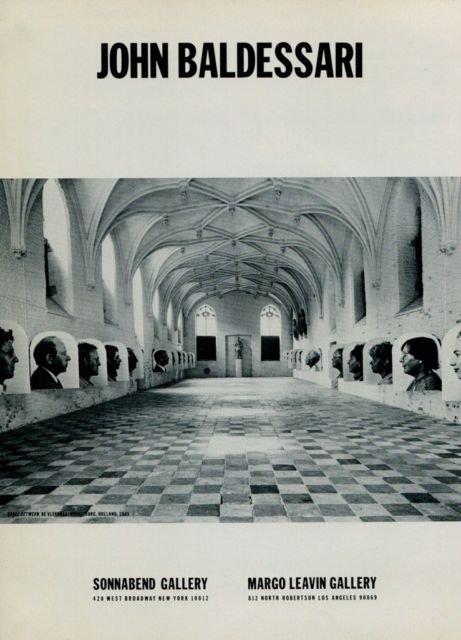 1986 John Baldessari Space Between 1986 Art Ad Advertisement