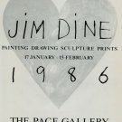 1986 Jim Dine Pace Gallery 1986 Art Exhibition Ad Advertisement