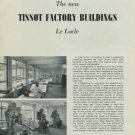 1949 Tissot Watch Company Vintage 1949 New Tissot Factory Buildings Swiss Magazine Article