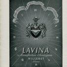 1947 Lavina Watch Company Villeret Switzerland Vintage 1947 Swiss Ad Suisse Advert