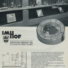 Arthur Imhof Clock Company Switzerland Vintage 1976 Swiss Ad Suisse Advert Horology