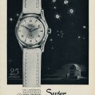 1953 Suter Watch Company Suter Cosmopolitan Advert Vintage 1953 Swiss Ad Suisse Advert Switzerland