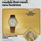 Longines Watch Company Switzerland Vintage 1977 Swiss Ad Suisse Advert Horology